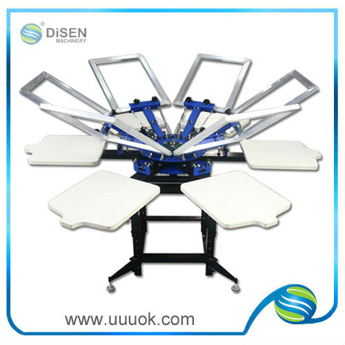 4 Color T-shirt Screen Printing Machine