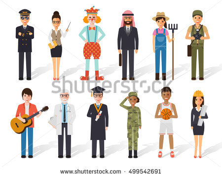 pictures of uniforms of different professions