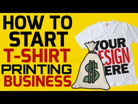 how to print t shirts