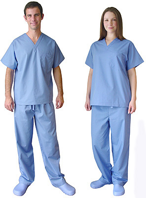 what do different color scrubs mean